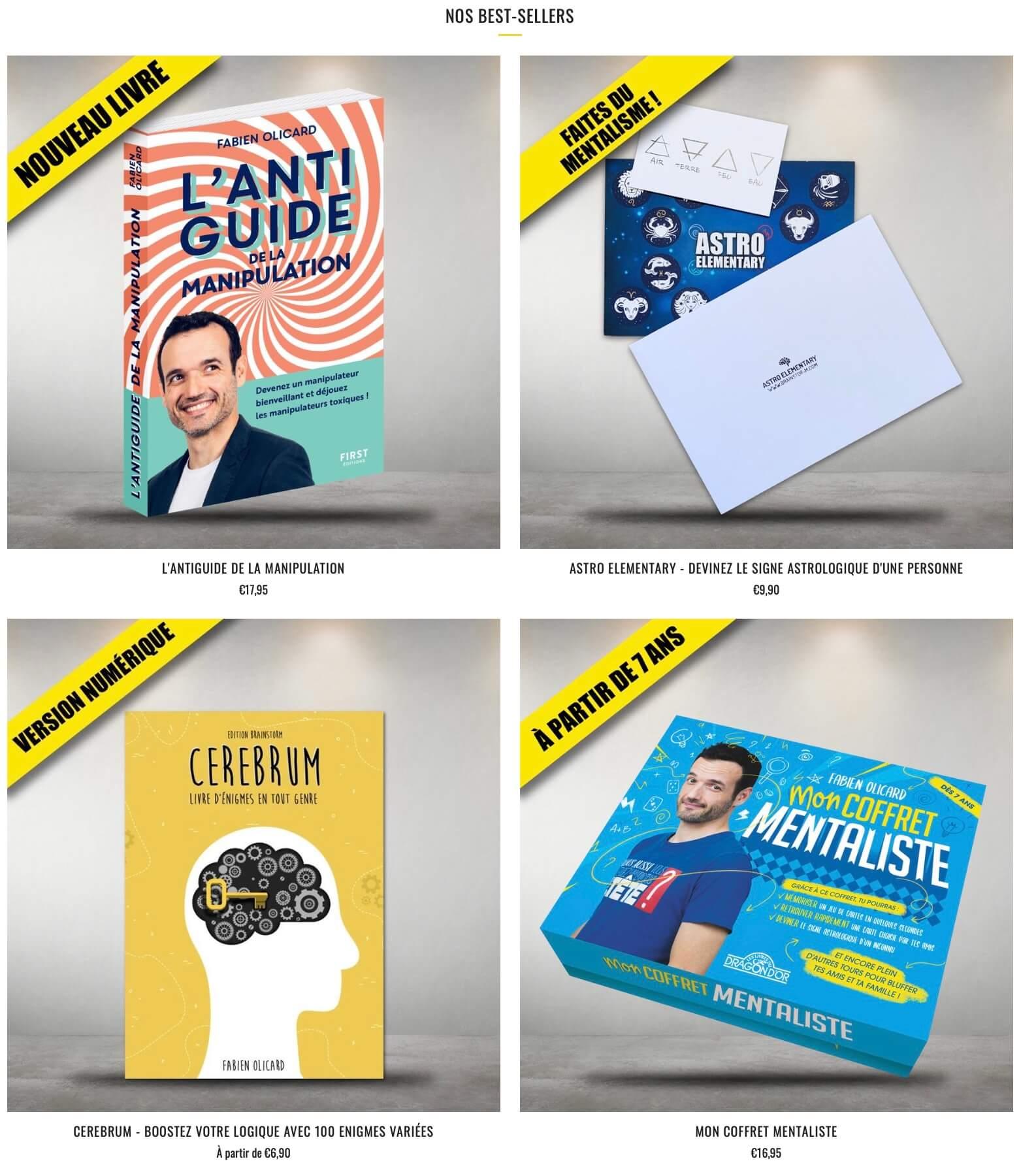 Fabien Olicard - Mentaliste | La boutique